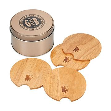 #BUL003 - Bullware Wood Coaster Sets Image