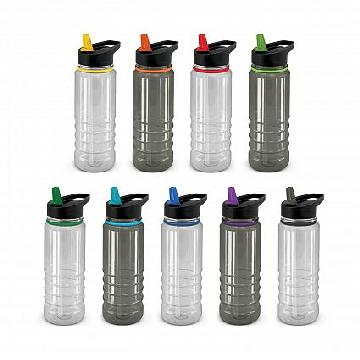 Triton Elite Drink Bottle - Clear and Black Image