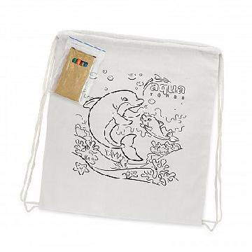 Cotton Colouring Drawstring Backpack 113013 Image