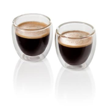 Orso 2 double walled 80ML Expresso glass set in gi Image
