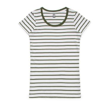 AS Colour 4023 LOOP Stripe TEE All Stripes Image