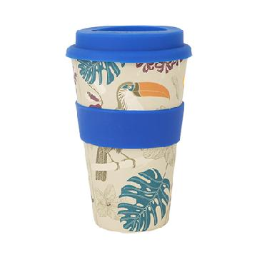 Innovative 400ml Reusable Bamboo Coffee Cup Image