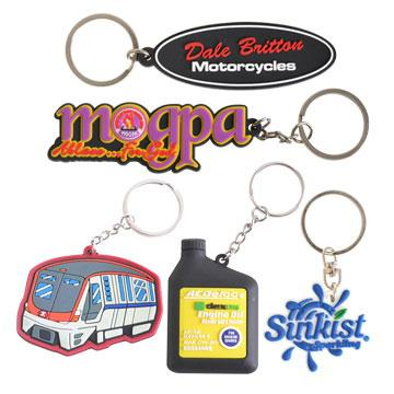 Custom Shaped PVC Keyring PCKP701 Image