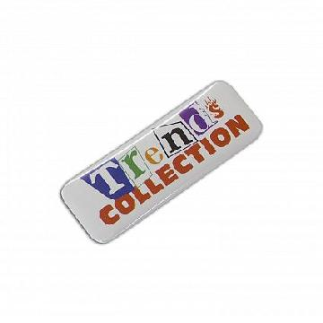 Button Badge Rectangle - 25 x 70mm 104782 Image