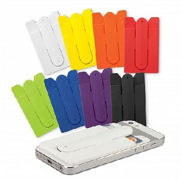 Silicone Phone Wallet with Stand 108047 Image