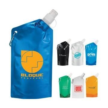 #SM-6600 Cabo 600ml Water Bag with Carabiner - Cle Image